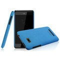 IMAK Cowboy Shell Quicksand Hard Cases Covers for HTC T528w One SU - Blue (High transparent screen protector)