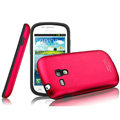 IMAK Metal Hard Cases Color Covers for Samsung I8190 GALAXY SIII Mini - Rose (High transparent screen protector)