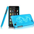 IMAK Ultrathin Dragon Color Covers Hard Cases for HTC T528d One SC - Blue (High transparent screen protector)
