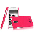 IMAK Ultrathin Matte Color Covers Hard Cases for HTC J Z321e - Rose (High transparent screen protector)