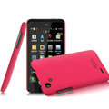 IMAK Ultrathin Matte Color Covers Hard Cases for HTC T528d One SC - Rose (High transparent screen protector)