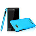IMAK Ultrathin Matte Color Covers Hard Cases for HTC T528w One SU - Blue (High transparent screen protector)