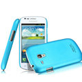 IMAK Ultrathin Matte Color Covers Hard Cases for Samsung I8190 GALAXY SIII Mini - Blue (High transparent screen protector)