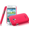 IMAK Ultrathin Matte Color Covers Hard Cases for Samsung I8190 GALAXY SIII Mini - Rose (High transparent screen protector)