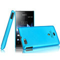IMAK Ultrathin Matte Color Covers Hard Cases for Sony Ericsson ST23i Xperia miro - Blue (High transparent screen protector)