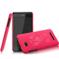 IMAK Ultrathin Rose Color Covers Hard Cases for HTC T528w One SU - Rose (High transparent screen protector)