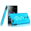 IMAK Ultrathin Rose Color Covers Hard Cases for Sony Ericsson ST23i Xperia miro - Blue (High transparent screen protector)