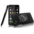 IMAK Ultrathin Tiger Color Covers Hard Cases for HTC T528d One SC - Black (High transparent screen protector)