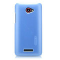 Nillkin Colourful Hard Cases Skin Covers for HTC X920e Droid DNA - Blue (High transparent screen protector)