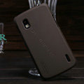 Nillkin Super Matte Hard Cases Skin Covers for LG E960 Nexus 4 - Brown (High transparent screen protector)