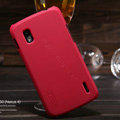 Nillkin Super Matte Hard Cases Skin Covers for LG E960 Nexus 4 - Red (High transparent screen protector)
