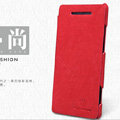 Nillkin leather Cases Holster Covers Skin for HTC 8X - Red (High transparent screen protector)