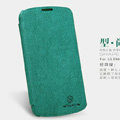 Nillkin leather Cases Holster Covers Skin for LG E960 Nexus 4 - Green (High transparent screen protector)
