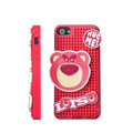 3D Bear Cover Disney DIY Silicone Cases Skin for iPhone 5 - Pink