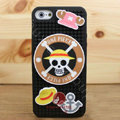 3D Pirate Cover Disney DIY Silicone Cases Skin for iPhone 5 - Black