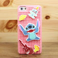 3D Stitch Cover Disney DIY Silicone Cases Skin for iPhone 5 - Pink