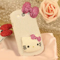 Bling Hello kitty Crystal Case Pearls Covers for Samsung Galaxy SIII S3 I9300 I9308 I939 I535 - Rose
