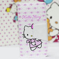 Hello Kitty Side Flip leather Cases Holster Cover Skin for iPhone 5 - Pink