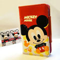 Mickey Mouse Side Flip leather Case Holster Cover Skin for iPhone 5 - Red