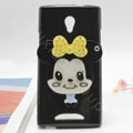 Mickey Silicone Cases Mirror Covers Skin for OPPO U705T Ulike2 - Black