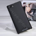 Nillkin Matte Hard Cases Covers for Sony Ericsson ST26i Xperia J - Black (High transparent screen protector)