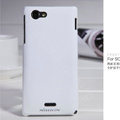 Nillkin Matte Hard Cases Covers for Sony Ericsson ST26i Xperia J - White (High transparent screen protector)