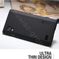 Nillkin Super Matte Hard Cases Covers for LG P765 Optimus L9 - Black (High transparent screen protector)
