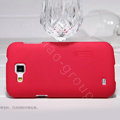 Nillkin Super Matte Hard Cases Covers for Samsung I9260 GALAXY Premier - Red (High transparent screen protector)