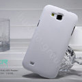 Nillkin Super Matte Hard Cases Covers for Samsung I9260 GALAXY Premier - White (High transparent screen protector)