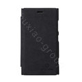 Nillkin leather Cases Holster Covers Skin for Nokia Lumia 920 - Black (High transparent screen protector)