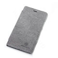 Nillkin leather Cases Holster Covers Skin for Nokia Lumia 920 - Gray (High transparent screen protector)