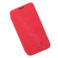 Nillkin leather Cases Holster Covers Skin for Samsung I8750 ATIV S - Red (High transparent screen protector)