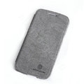 Nillkin leather Cases Holster Covers Skin for Samsung I9260 GALAXY Premier - Gray (High transparent screen protector)