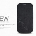 Nillkin leather Cases Holster Covers for Samsung I939D GALAXY SIII - Black (High transparent screen protector)