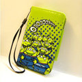 Stitch Side Flip leather Case Holster Cover Skin for iPhone 5 - Green