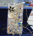 Bling Swarovski crystal cases Butterfly Deer diamond cover for iPhone 5 - White