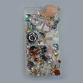 Bling Swarovski crystal cases Gril diamond covers for iPhone 5 - Pink