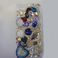 Bling Swarovski crystal cases Heart diamond cover for iPhone 5 - Blue