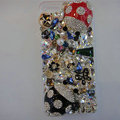 Swarovski crystal cases Bling Beetle diamond cover for iPhone 5 - Black+Red