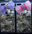 Swarovski crystal cases Bling Bowknot diamond cover for iPhone 5 - Pink