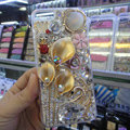 Swarovski crystal cases Bling Flower Swan diamond cover for iPhone 5 - Gold
