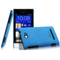 IMAK Cowboy Shell Hard Case Cover for HTC 8S - Blue (High transparent screen protector)