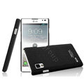 IMAK Cowboy Shell Hard Case Cover for LG P765 Optimus L9 - Black (High transparent screen protector)