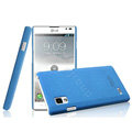 IMAK Cowboy Shell Hard Case Cover for LG P765 Optimus L9 - Blue (High transparent screen protector)