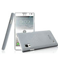 IMAK Cowboy Shell Hard Case Cover for LG P765 Optimus L9 - Gray (High transparent screen protector)