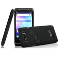 IMAK Cowboy Shell Hard Case Cover for Motorola XT788 - Black (High transparent screen protector)