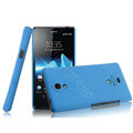 IMAK Cowboy Shell Hard Case Cover for Sony Ericsson LT30p Xperia T - Blue (High transparent screen protector)