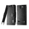 IMAK Slim leather Case holder Holster Cover for HTC 8S - Black