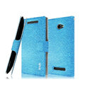 IMAK Slim leather Case holder Holster Cover for HTC 8X C620e - Blue