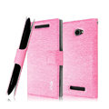 IMAK Slim leather Case holder Holster Cover for HTC 8X C620e - Pink